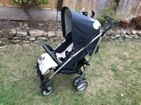 Hauk Pushchair with Minnie Mouse on