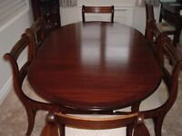 Dining Table & 6 Chairs (2carver) in great condition.