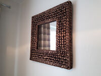 BROWN WOVEN MIRROR - 2 FOR SALE - LIKE NEW - £20 EACH