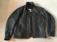 Triumph Black Leather Jacket 42 inch chest
