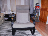 IKEA armchair poang black/brown very good condition hardly used