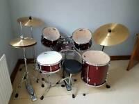 Pearl Forum Drum kit.