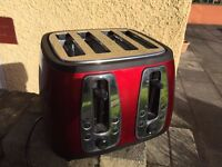 Russell Hobbs Heritage Range 4 Slice Toaster Metallic Red/Used Twice