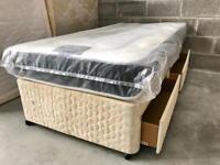 3ft Single divan 2 draws and new mattress