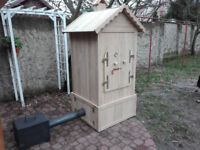 Wooden Smoker BIG - Smokehouse - Garden BBQ Oak