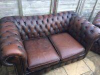 Chesterfield 3 piece sofa set