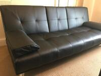 2 Seater Sofa Bed (leather)