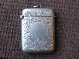 Silver 925 matchbox - Hallmarked