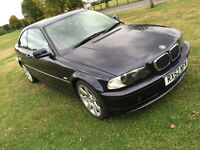 2002 52 plate bmw e46 coupe 318 ci SE good mileage with Service History STUNNING condition 3 series