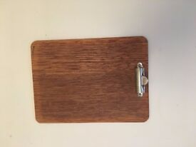 6 clipboards with wooden finish
