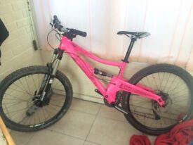 Mountain Bike, Orange Five S full suspension.