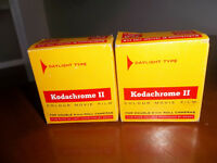 TWO KODACHROME 11 COLOUR MOVIE FILMS FOR DOUBLE 8mm ROLL CAMERAS