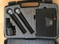 L59AW Prosound Twin Wireless Microphones