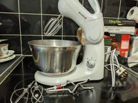 Stand mixer with 3 different attachments