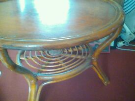 Round bentwood table