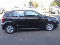 Black VW Polo lovely condition, Full VW service history also a great saver as its also road tax free