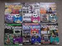 6 Official Sony Playstation Magazines + playable demo discs - Numbers 38 42 43 48 49 51