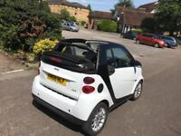 Smart Fortwo 59 plate cabriolet white-petrol-hpi clear -part exchange welcome