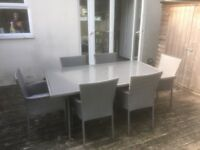 Garden table and 6 chairs for sale