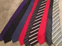 Men's ties x 9