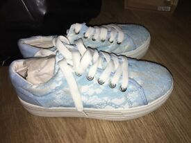Blue Lace Trainers
