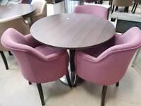 7 x Circular table + 21 Chairs