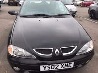 Renault Megane Convertible 2002 model 2dr 6 months mot only £399