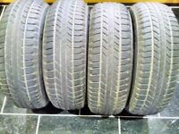 "SET OF FOUR BRAND NEW GOOD YEAR WRANGLER TYRES 16 "" FOR SALE"
