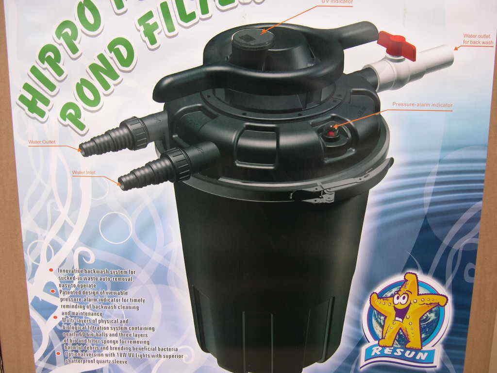 Profi Druckfilter Teichfilter Komplett - Filtersystem mit 24W UVC für 18000 L/h