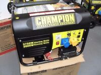 NEW CHAMPION ELECTRIC START GENERATORS, 3500WATTS , AVR PROTECTED , BALLYNAHINCH .