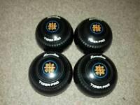 Henselite Tiger Pro Size 1 bowls wood ball's ladies men indoor lawn short mat bowls