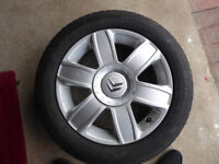 Spare Alloy Wheel and Tyre for Citroen 205/55 R16 in excellent condition