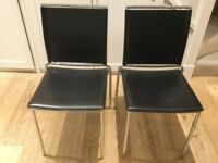 Black Leather dinning chairs Heals