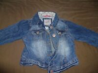 Girls Next Denim jacket aged 5-6 years
