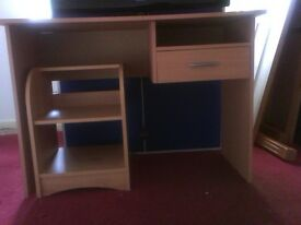Desk for sale in very good condition, light wood in colour...Would suit a student
