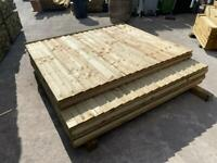 Tanalised Straight Top Wooden Garden Fence Panels - New