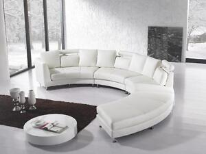 Modern Design Circular Sofa - ROTUNDE white Beliani