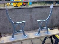 Cast Iron Garden Bench x 2