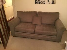 Marks and Spencer taupe chenille sofa excellent condition