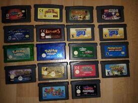 Nintendo GBA Cartridges 18x