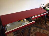 IKEA 'BESTA BURS' Office Desk in High Gloss Red - £80