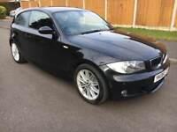 BARGAIN BMW 118d M SPORT 2008 08 REG 3 DOOR BLACK CLEAN TIDY BARGAIN