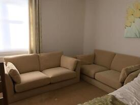 Marks & Spencer 2 x 3 seater fabric sofa in sand
