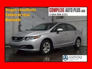 2015 Honda Civic Sedan LX *A/C,Camera recul,Banc chauffant, Blue