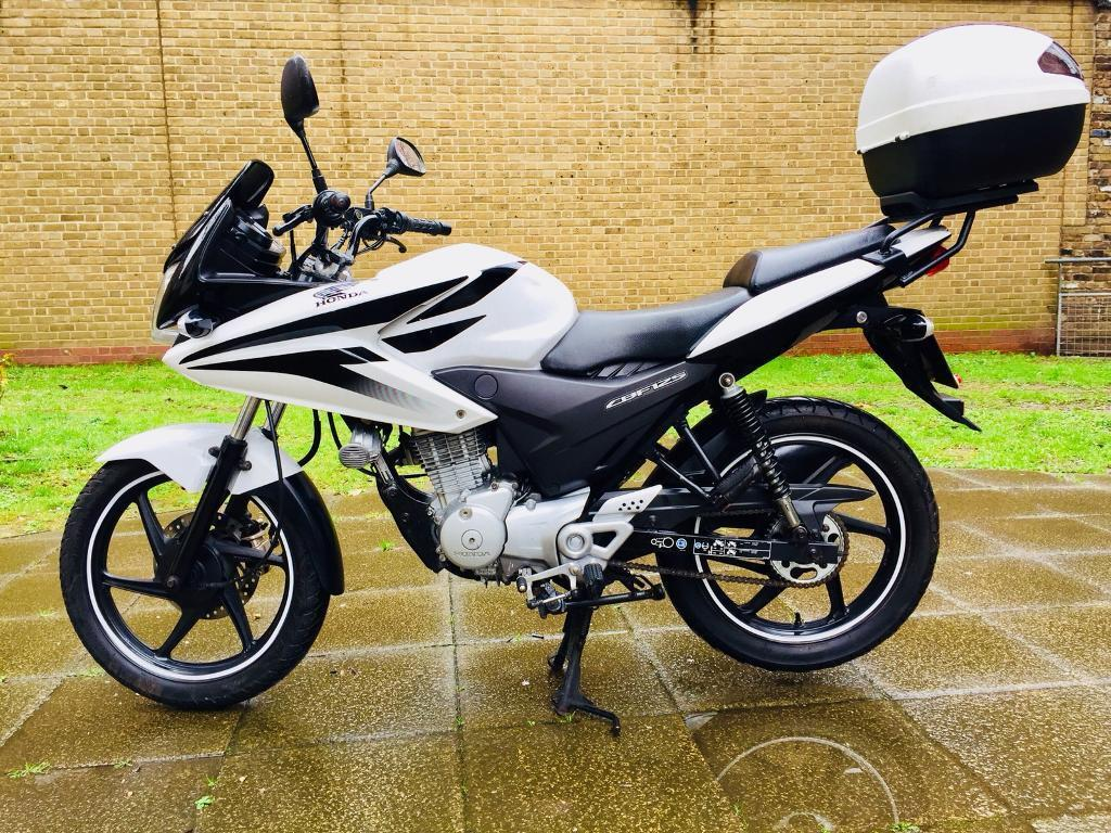 honda cbf 125 125cc cbf125 cbt learner legal 2015 12 months mot top box white delivery available. Black Bedroom Furniture Sets. Home Design Ideas