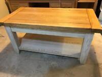 Handmade Solid Oak Coffee Table