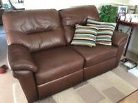 2 x Leather Settees
