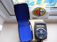 Lunasix 3 Gossen Lightmeter in excellent condition, inc. case,strap,book and batteries.