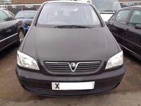 BREAKING - Vauxhall Zafira 16V Club 1.6L Petrol 99BHP ----- 2000