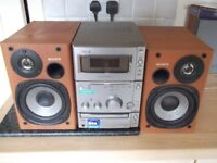 Sony CMT-CPX1 Micro Hifi System & Speakers - Radio CD Cassette